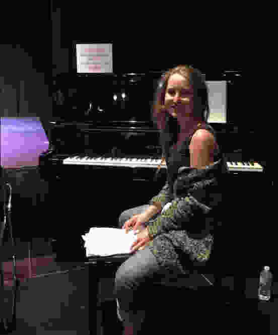 Live improv piano - teacher Emilee performs at the Oakville Improv Theater