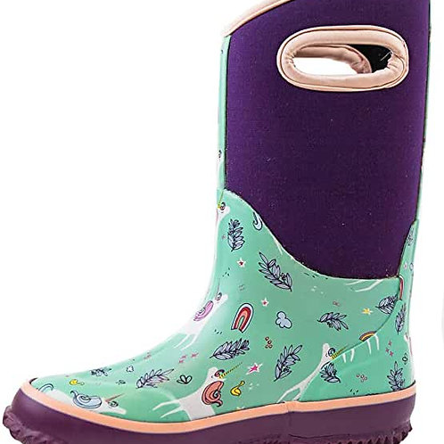Oaki wear Neoprene Rain/Snow Boots- Snooty Unicorn