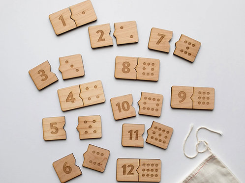 Wooden Number Match Puzzle