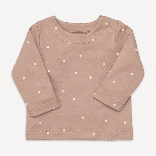 Preorder Ryle Long Sleeve Shoulder Snap Shirt - Mini Dot Print