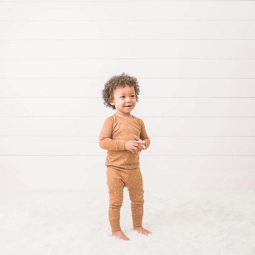 Preorder Long Sleeve Jammies - Square Dot Print