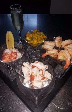 Lobster, Jumbo Lump Crab & Shrimp Cocktail w_ Mango-Avocado Relish