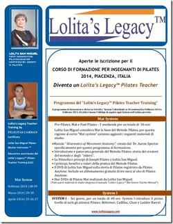 Programma Lolita's Legacy™ 2014