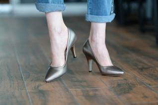Füme Topuklu Ayakkabı - Aker Ayakkabı