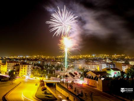 19 Mayıs Kutlamaları Kırşehir - Havai Fişek Gösterisi