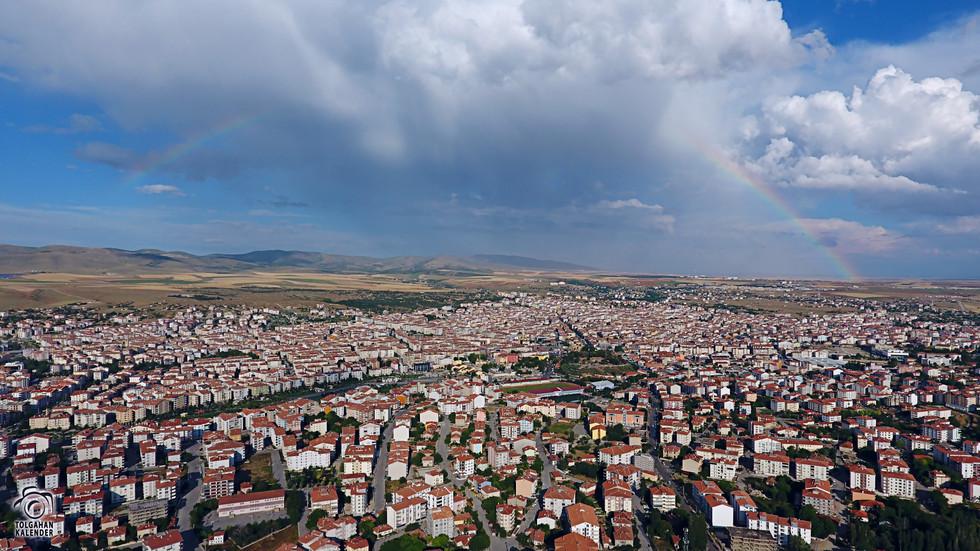 Kırşehir Havadan Gökkuşağı Manzarası