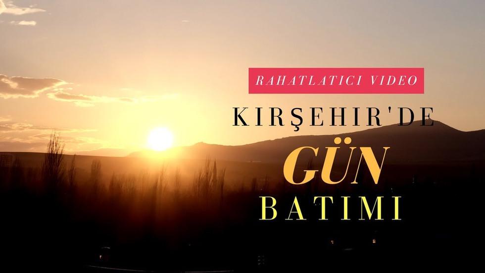 Kırşehir'de Gün Batımı