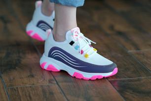 Renkli Beyaz Spor Ayakkabı - Aker Ayakkabı