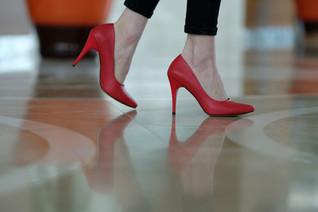 Kırmızı Topuklu - Aker Ayakkabı