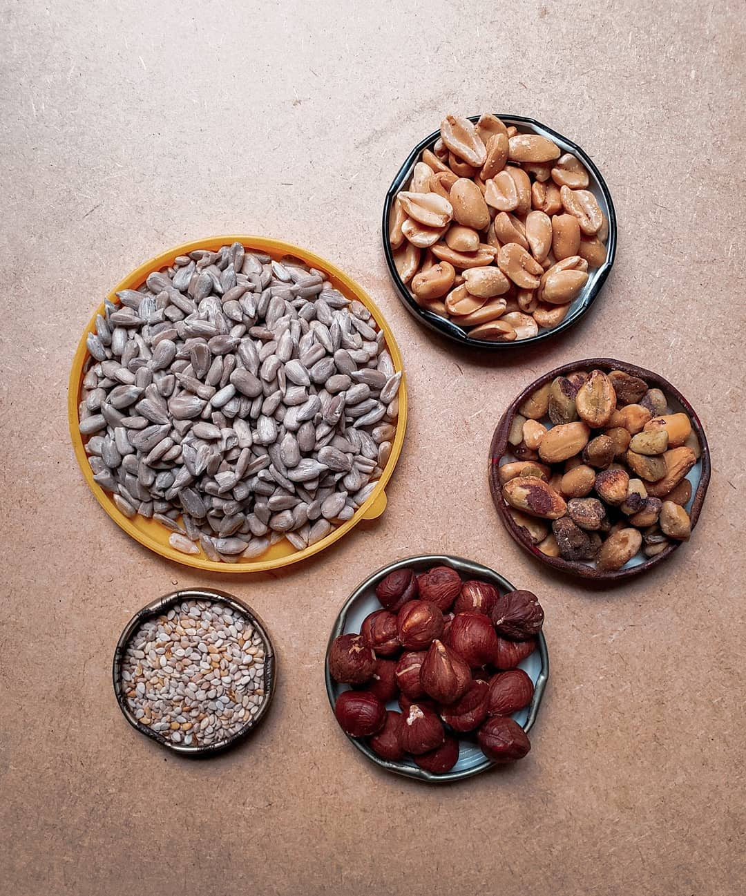 Semente de Girassol | Amendoim | Pistache | Avelã | Gergelim