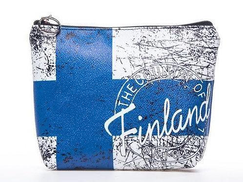 Finland Beauty Bag Finnish Flag | Suomi Meikki Pussi Suomen Lippu