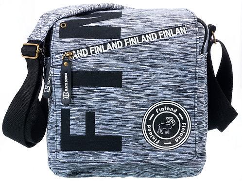 Finland Shoulder Bag Grey Melange | Suomi Olka Laukku Harmaameleerattu