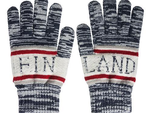 Finland Gloves Blue Melange Winter Classic Style | Suomi Hanskat Sininen Meleerattu Talvi Perinteinen Tyyli