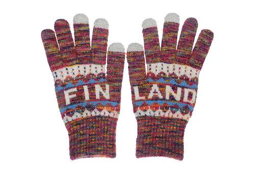 Finland Gloves Classic Style Touch Screen Winter Fashion | Suomi Hanskat Perinteinen Tyyli Kosketus Näyttö Talvi Muoti
