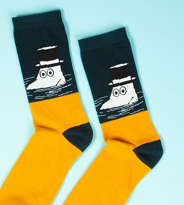 Moominpappa Swimming Men Socks Petrol / Yellow