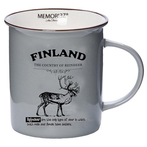 Finland Mug Reindeer Story Souvenir Gift | Suomi Muki Poro Tarina Matkamuisto Lahja
