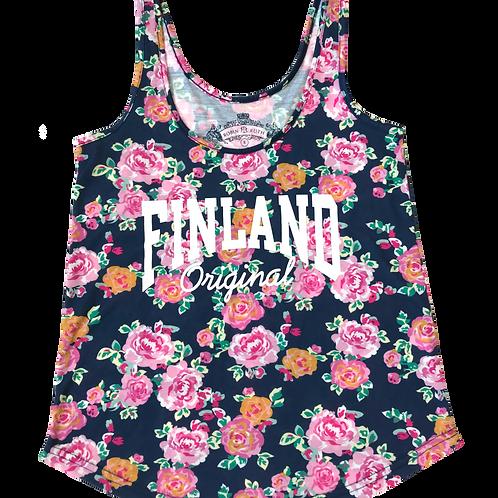 Finland Top Floral Wide Fit Fashion | Suomi Toppi Kukallinen Väljä Istuvuus Muoti