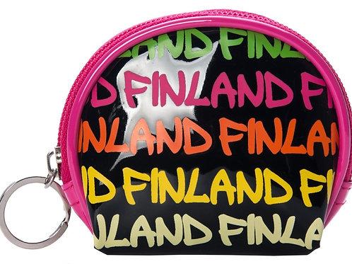 Finland Coin Wallet Text Print Shiny | Suomi Kolikko Lompakko Teksti Kuvio Kiiltävä