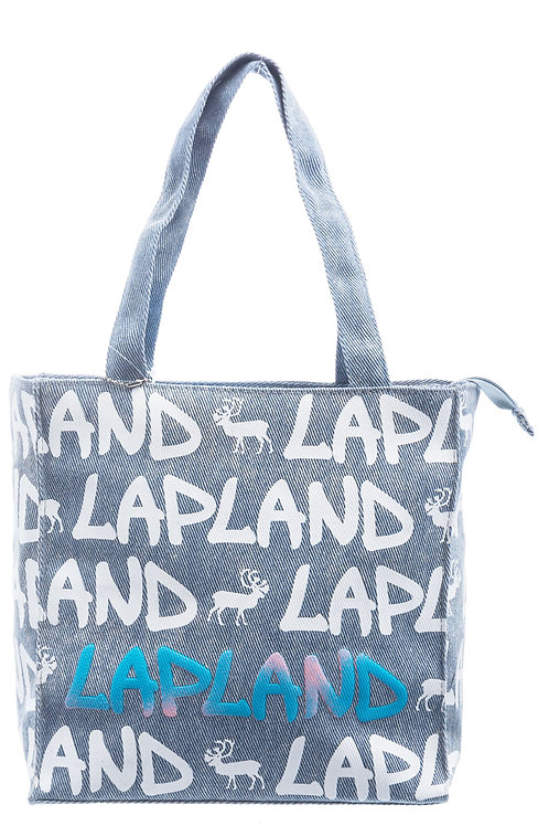 Lapland Bag Small Reindeer Denim | Lappi Laukku Pieni Poro Denim