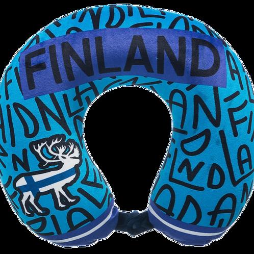 Finland Neck Pillow Reindeer Finnish Flag | Suomi Niska Tyyny Poro Suomen Lippu