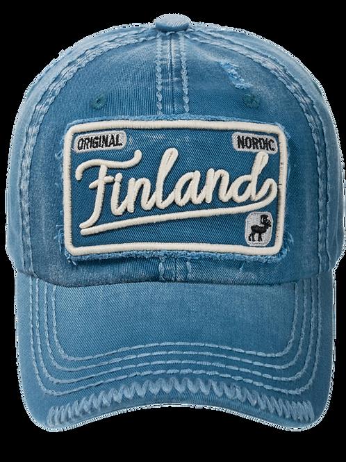 Finland Cap Stamp Retro | Suomi Lippis Merkki Retro