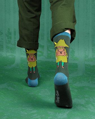 Snufkin Travelling Men Socks Green / Petrol