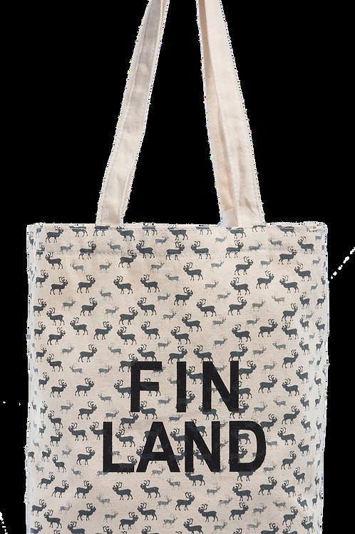 Finland Tote Bag Reindeer | Suomi Kangas Kassi Poro