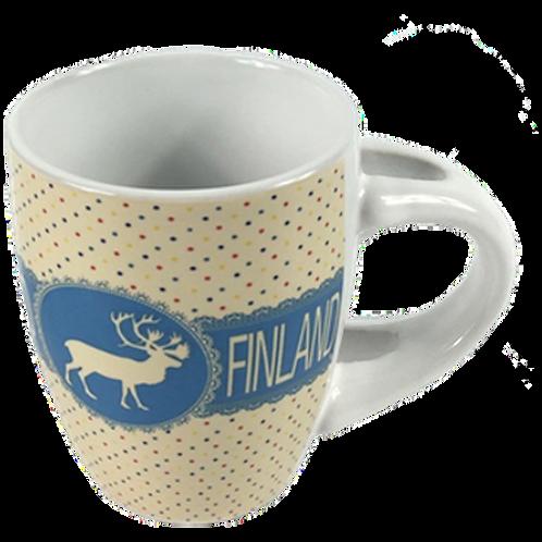 Finland Mug Espresso Vintage Style Reindeer Souvenir Gift | Suomi Muki Espresso Vanhanaikainen Tyyli Poro Matkamuisto Lahja