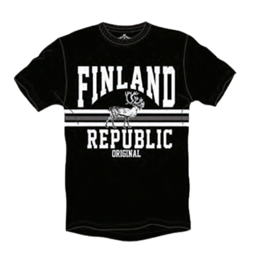 Finland T-shirt Men Reindeer Finland Logo | Suomi T-paita Miehet Poro Suomi Logo