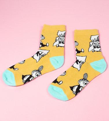 Little My Pranking Ladies Socks Yellow/Mint