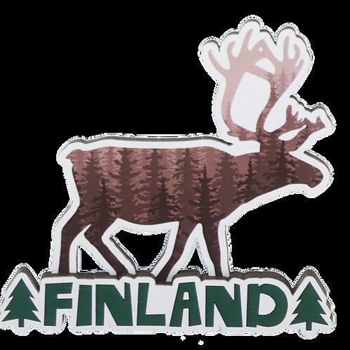 Finland Wooden Magnet Reindeer Souvenir Gift | Suomi Puinen Magneetti Poro Matkamuisto Lahja
