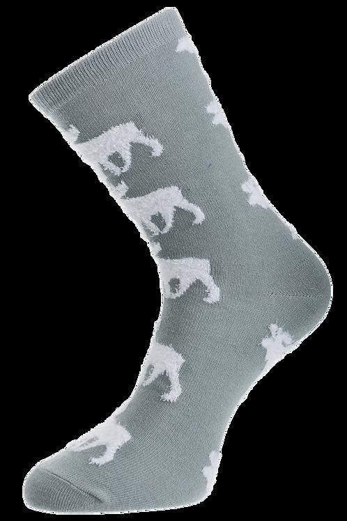 Finland Socks Fluffy Reindeer Finnish Theme  | Suomi Sukat Pörröinen Poro Suomalainen Teema