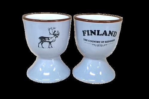 Finland Egg Cup Reindeer Souvenir | Suomi Muna Kuppi Poro Matkamuisto