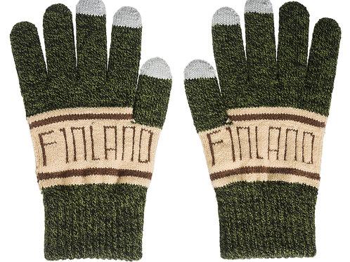 Finland Gloves Classic Style Touch Screen Winter | Suomi Hanskat Perinteinen Tyyli Kosketus Näyttö Talvi