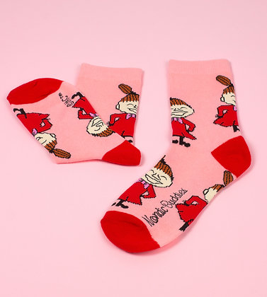 Little My Happiness Ladies Socks Light Pink / Red