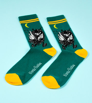 Stinky Retro Men Socks Green / Orange