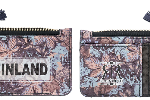Finland Card Holder Wallet Leaf Print | Suomi Kortti Kotelo Lompakko Lehti Kuvio