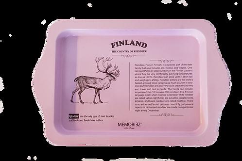 Finland Tray Reindeer Story Souvenir Gift | Suomi Tarjotin Poro Tarina Matkamuisto Lahja