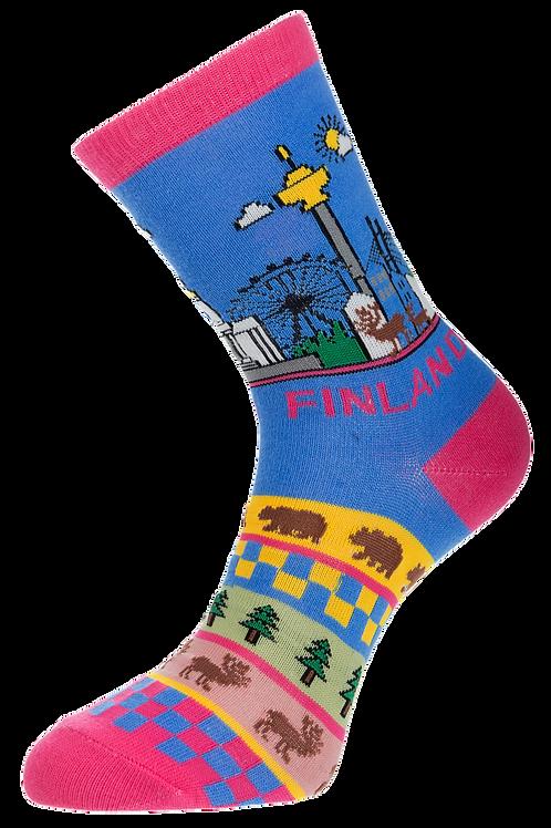 Finland Socks Finnish Theme | Suomi Sukat Suomalainen Teema