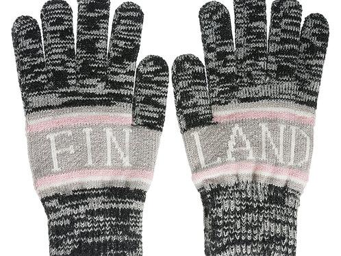 Finland Gloves Grey Melange Winter Classic Style | Suomi Hanskat Harmaa Meleerattu Talvi Perinteinen Tyyli