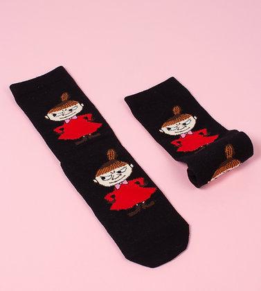 Little My Planning Tricks Ladies Socks Black