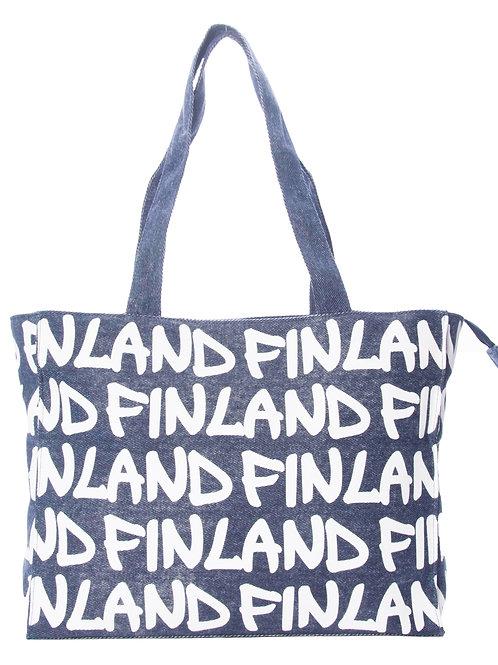 Finland Shoulder Bag Denim | Suomi Olka Laukku Denim