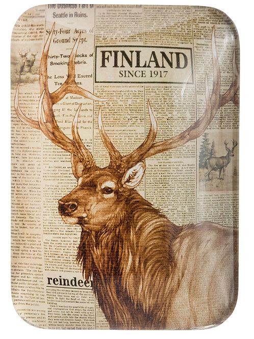 Finland Magnet Reindeer News Paper Print Souvenir   Suomi Magneetti Poro Uutiset Lehti Kuva Matkamuisto