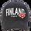 Finland Cap Flower Black   Suomi Lippis Kukka Musta