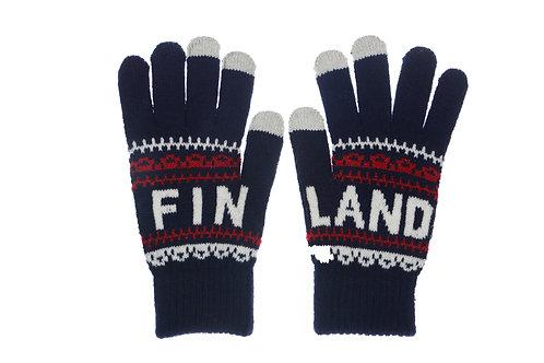 Finland Gloves Classic Style Touch Screen Winter Fashion   Suomi Hanskat Perinteinen Tyyli Kosketus Näyttö Talvi Muoti