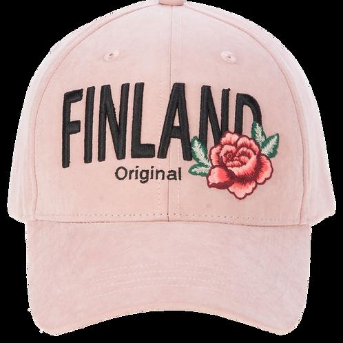 Finland Cap Flower Pink | Suomi Lippis Kukka Vaaleanpunainen