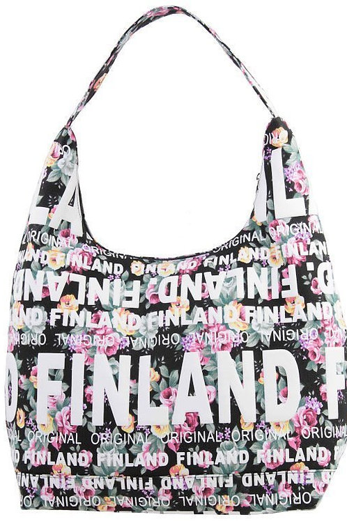 Finland Shoulder Bag Large Flower | Suomi Olka Laukku Suuri Kukka