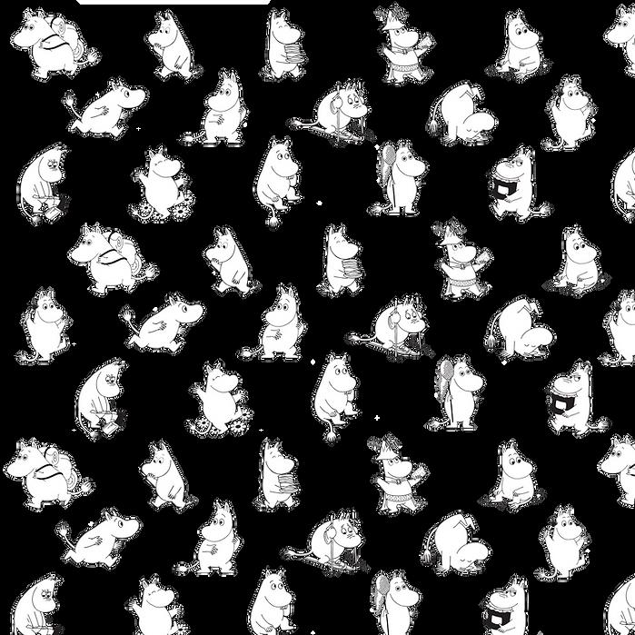 Moomintroll pattern   Muumipeikko kuvio