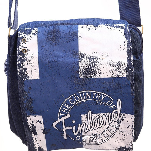 Finland Shoulder Bag Flag | Suomi Olka Laukku Lippu