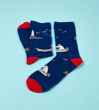Moominpappa At Sea Men Socks Blue / Red